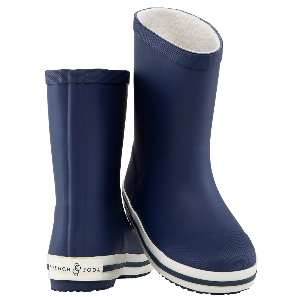 Navy Rubber Wellies Kids