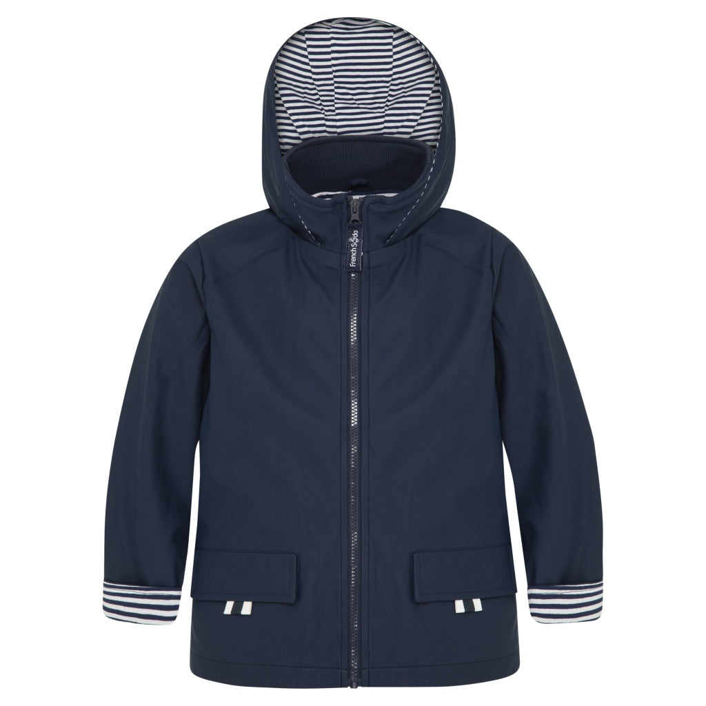 Navy Raincoat for Children Stripe lining