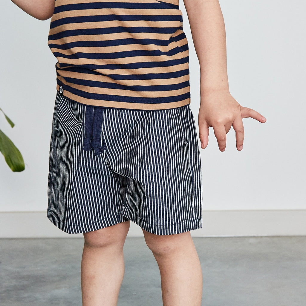 Boys navy cotton shorts