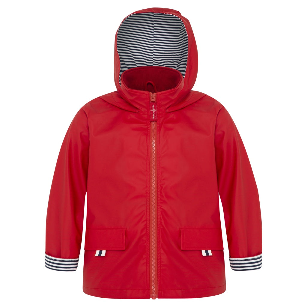 Red waterproof jacket