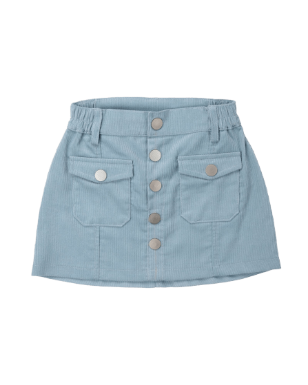 Girls skirt blue cord