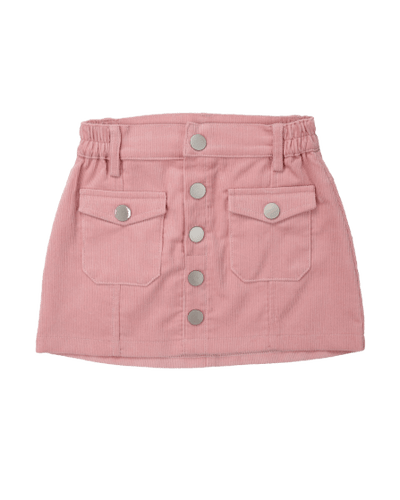 Girls skirt pink cord winter