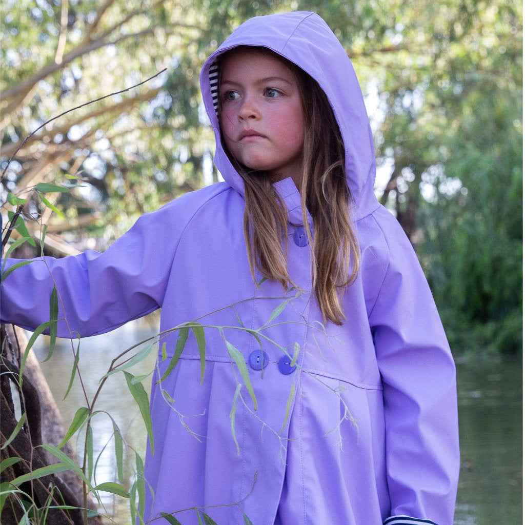 Purple  Girls Raincoat