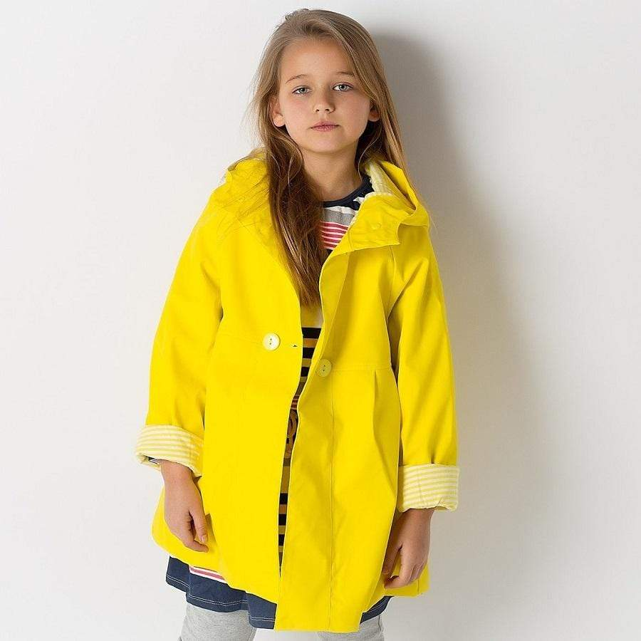 Girls Waterproof Raincoat - Yellow
