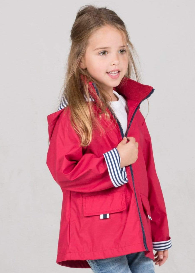 Kids Raincoat - Deep Red
