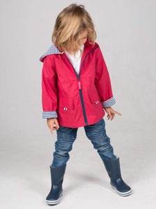 Kids Raincoat - Deep Red - Waterproof