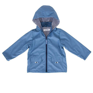 Kids Waterproof Raincoat - Powder Blue