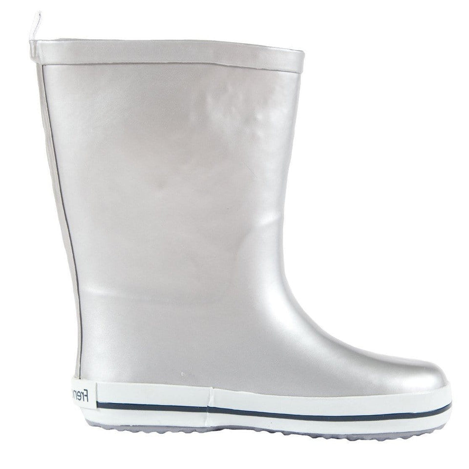 Kids Rubber Gumboot  Silver - Waterproof