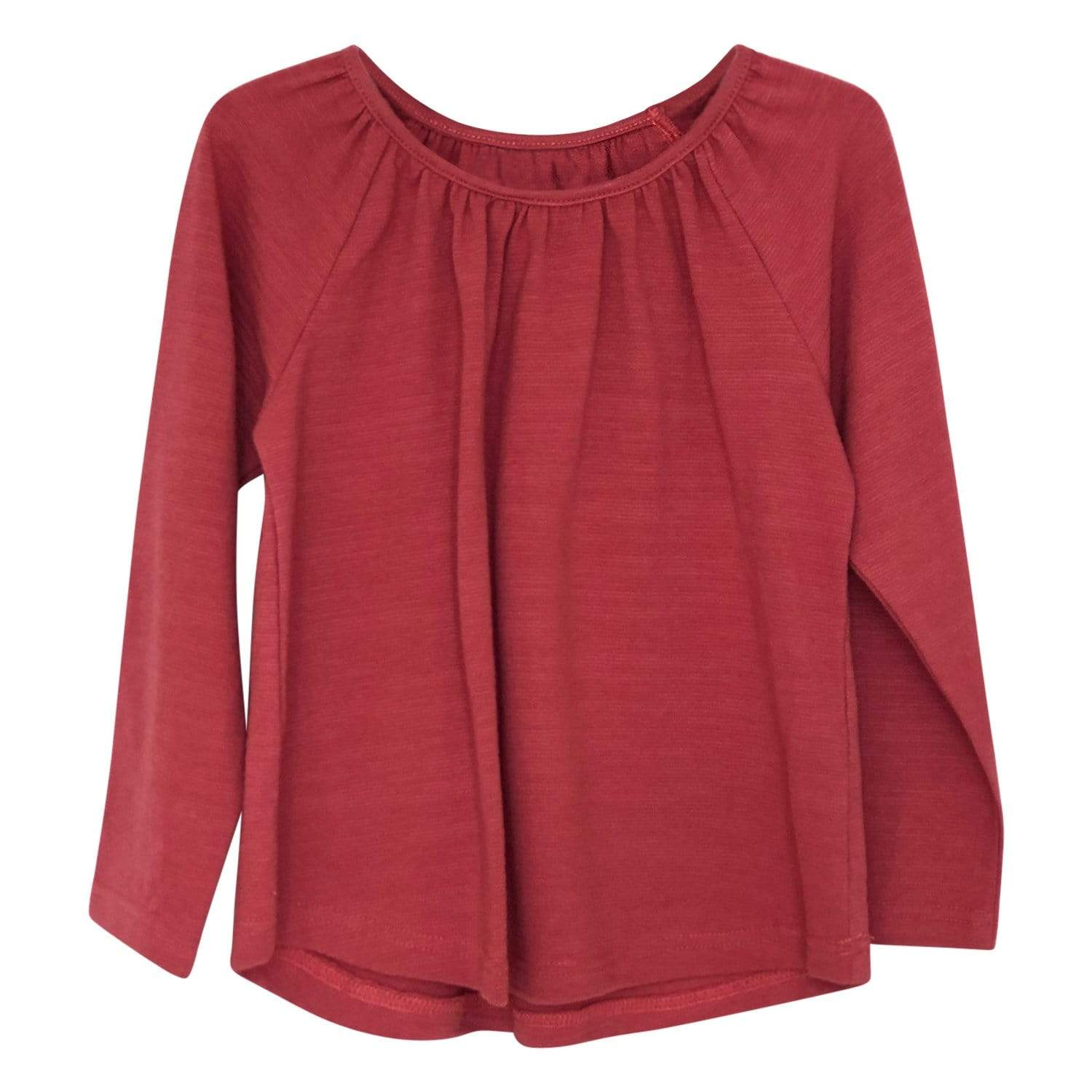 Girls long sleeve top rust