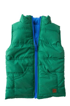 Reversible Vest - Green and Blue