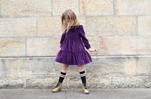 velour dress girls purple