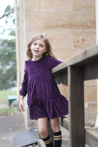 girls winter dress purple