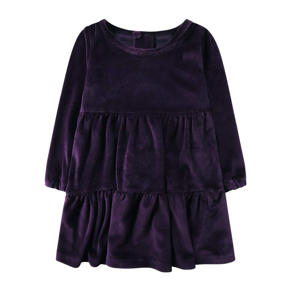 purple velvet dress girls