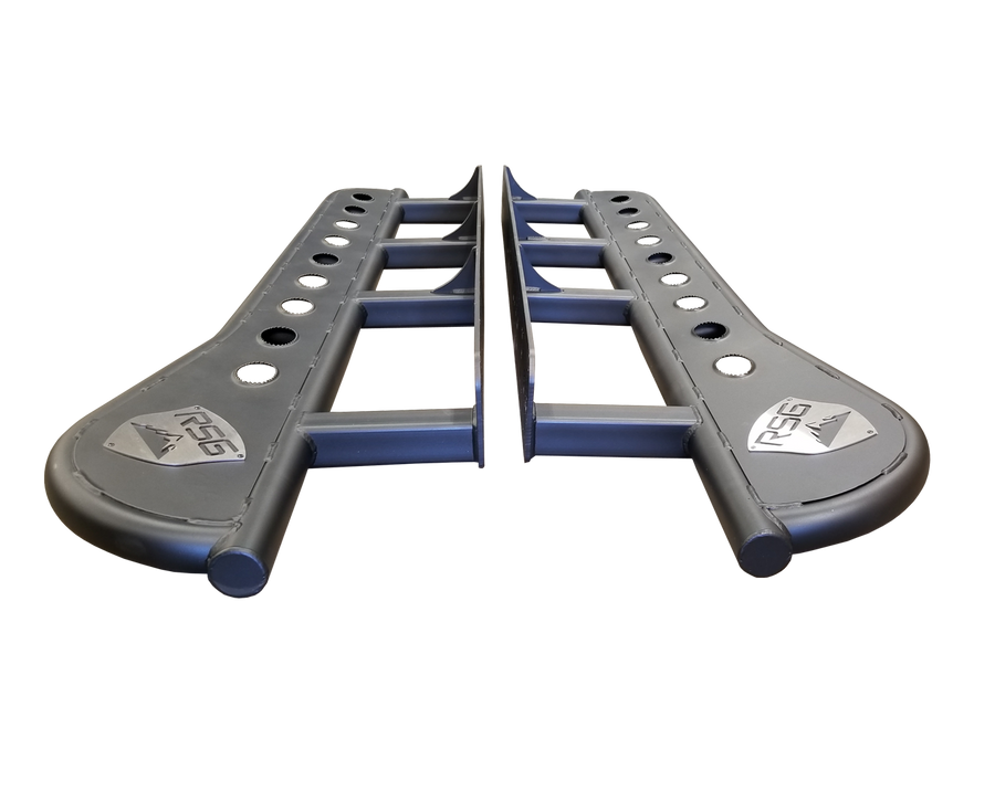 2003 - 2009 Toyota 4Runner Angled Sliders With Grip Top Plate
