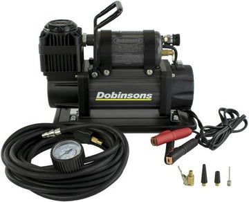 DOBINSONS 4×4 ZENITH PORTABLE 12V HIGH OUTPUT AIR COMPRESSOR KIT WITH BAG, HOSE AND GAUGE(AC80-3846)