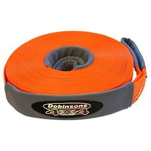 DOBINSONS 4X4 65 FT WINCH EXTENSION STRAP, SAFETY ORANGE, VERY COMPACT(WS80-3834)