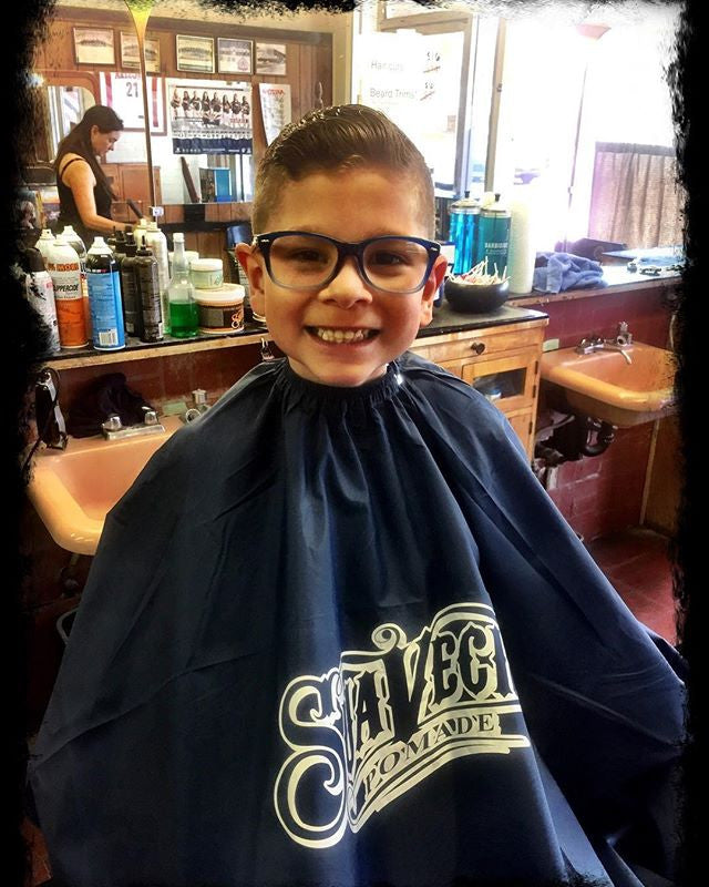 swagger haircut in barbershop styled with suavecito pomade