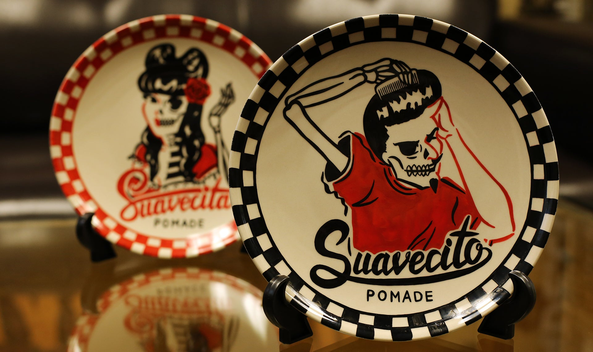 suavecito plate custom by lady weird