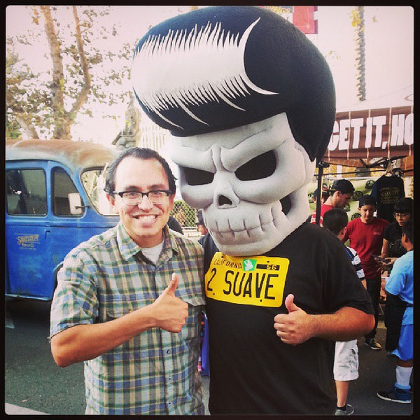 Suavecito Pomade Hanging Out In Down Town Santa Ana At The Day Of The Noche De Altaras Festival