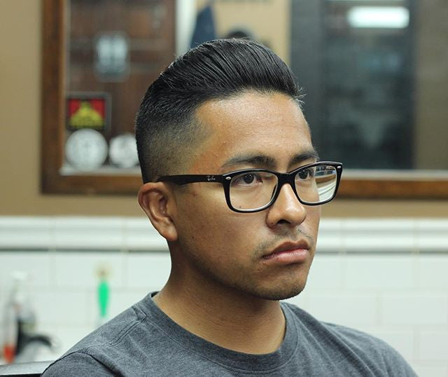Ace_Cardenas_ - side part pomp styled with suavecito matte pomade