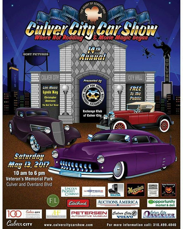 Culver city car show promotional flyer