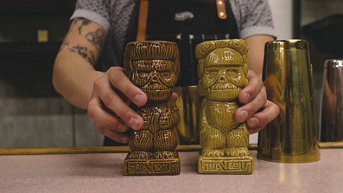 Suavecito and Suavecita tiki mugs