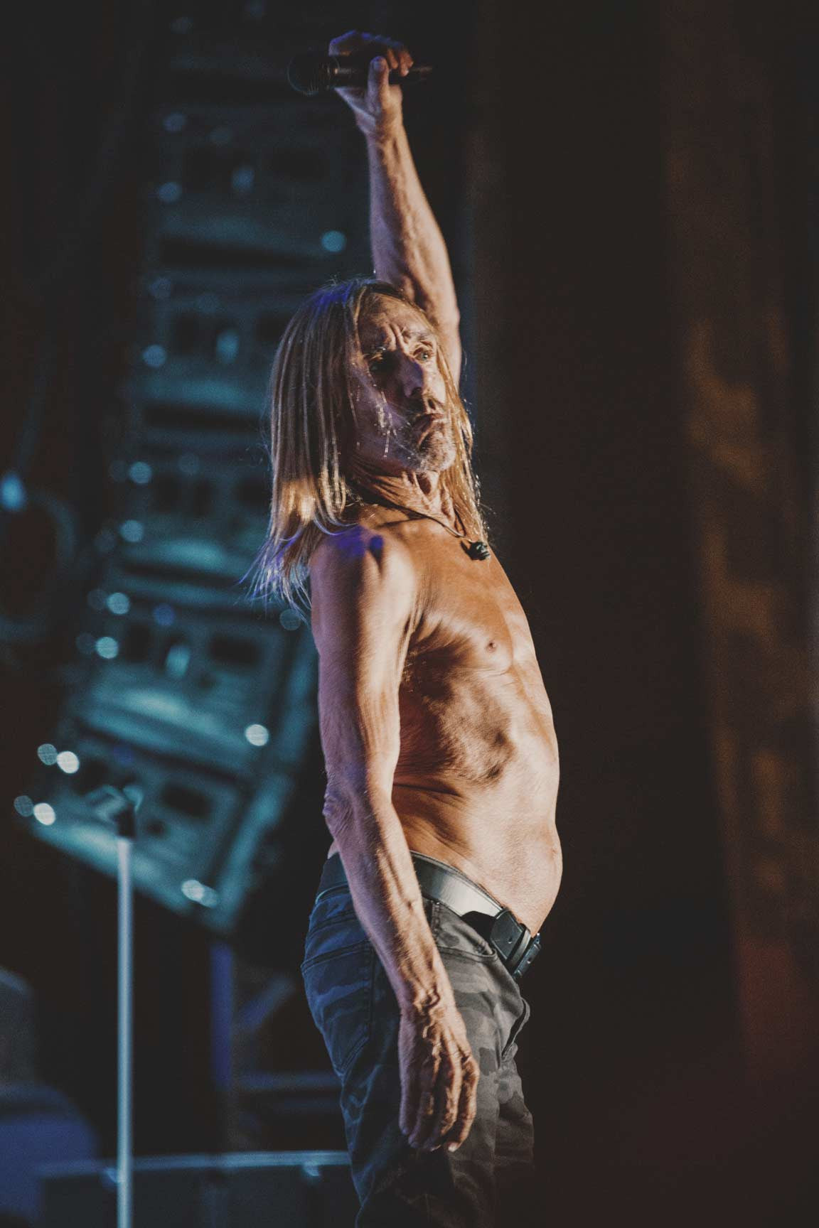 Iggy Pop Hand in Air Punk rock Bowling '17 Suavecito Pomade