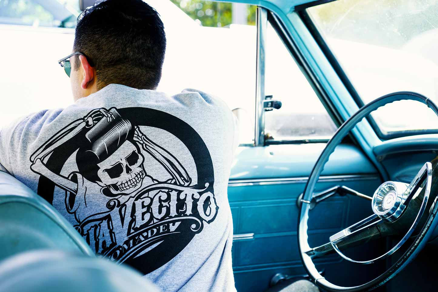 Inside the Nova Light Grey OG Crewneck Suavecito Pomade