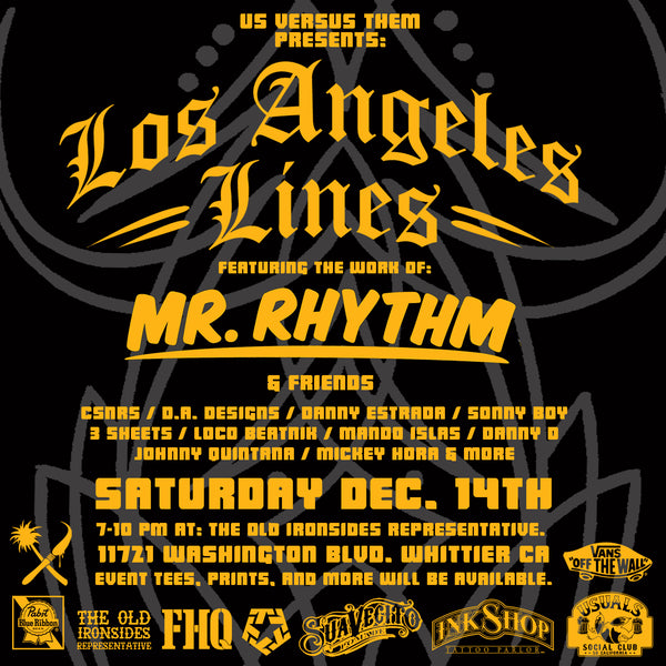 Suavecito Pomade X Mr. Rhythm Collaboration At Us Versus Them Presents: Lost Angeles Lines
