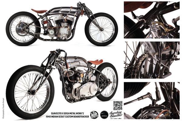 Suavecito Pomade Indian Board Tracker Motorcycle
