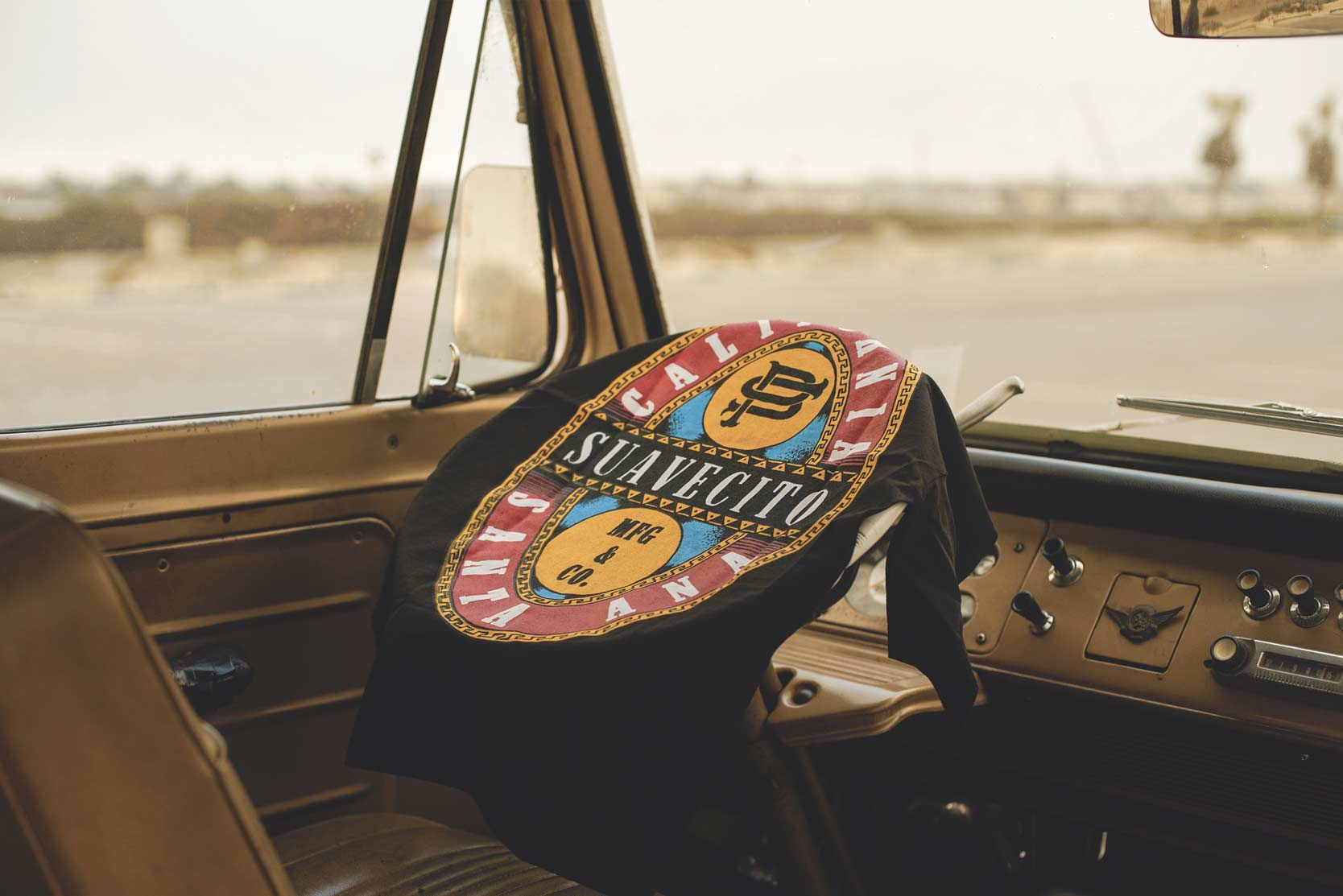 Steering Wheel Barley Tee Gabe on the Beach Suavecito Pomade