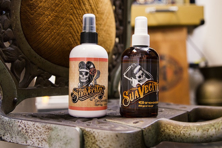 Suavecito and Suavecita Grooming Sprays for set spray for hair style