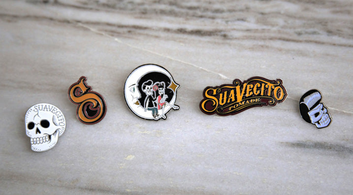 Suavecito assorted collectible pins for shirt or jacket