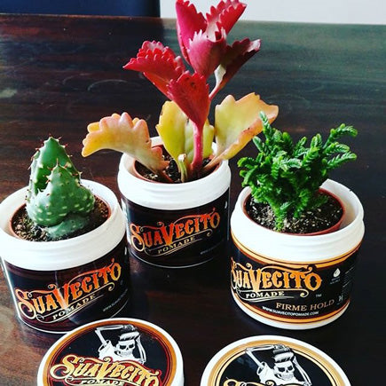 Suavecito Pomade Recycled Cans for Flowers