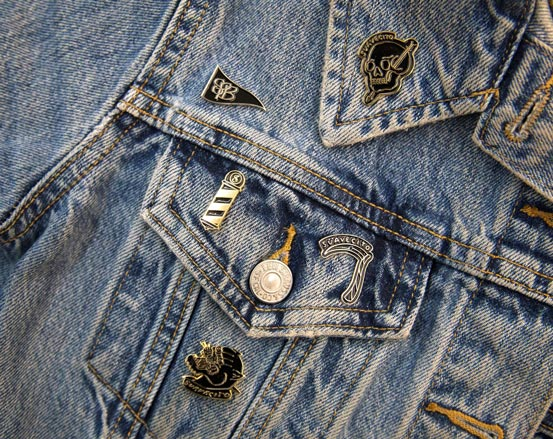 Suavecito Denim Jacket with Pins