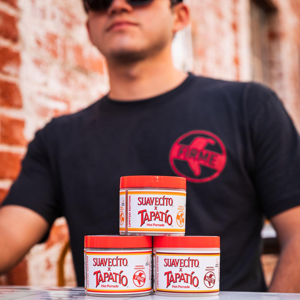 Suavecito X Tapatio Shirt and Pomades, front