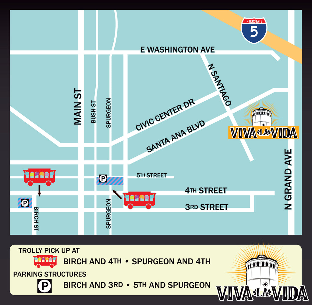 Suavecito Viva la Vida Parking Map
