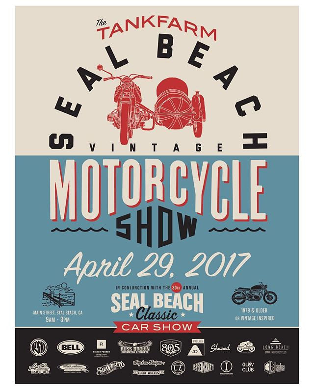 Vintage Motorcycle show Seal beach