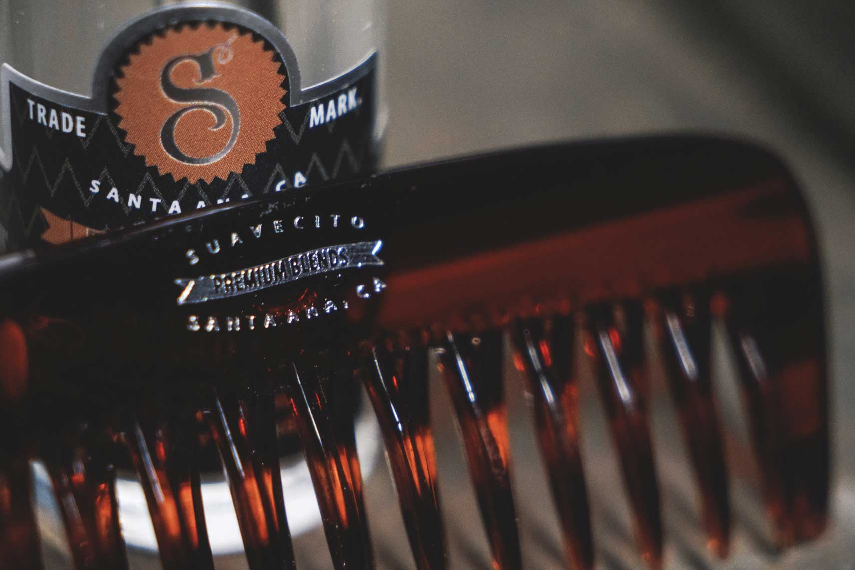 Volumizing Beard Comb Whiskey Bar 4 Suavecito Premium