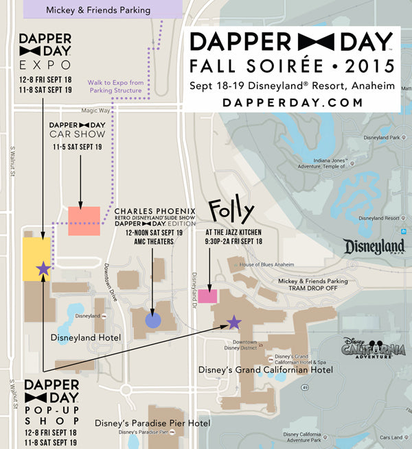 Dapper Day Expo Carshow Location