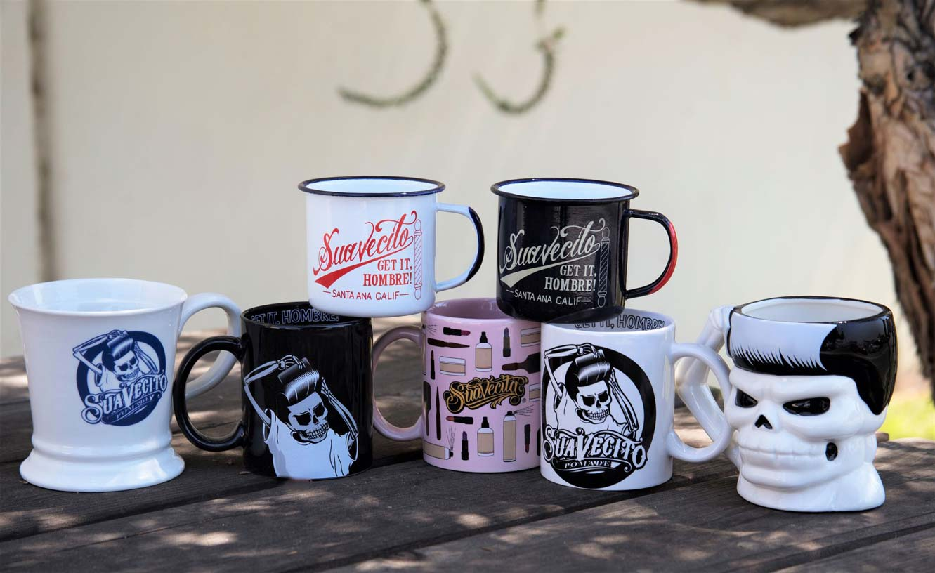 all of the suavecito and suavecita cups and mugs for your drinking pleasure