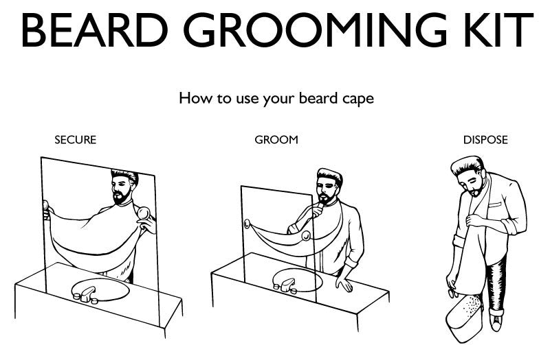Beard Grooming Cape