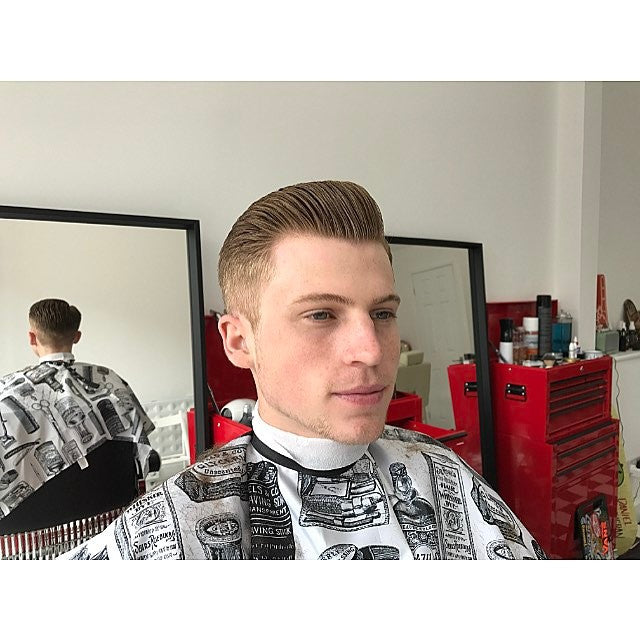 slickback pompadour hair style with suavecitopomade