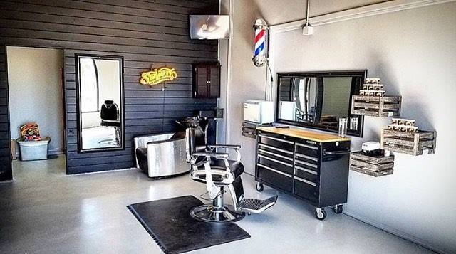 clean barbershop with suavecito pomade