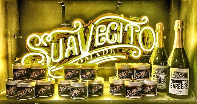 golden display of original firme matte pomades suavecito