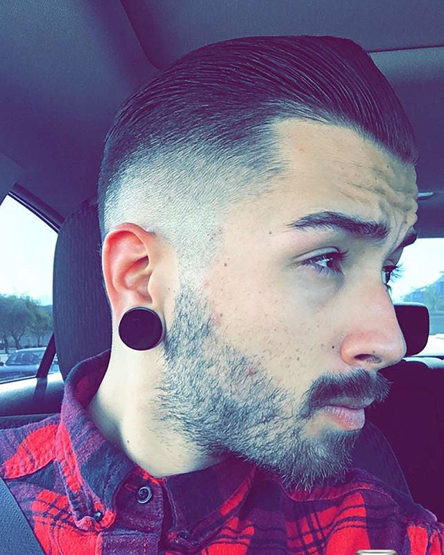 _graveyardking_ instagram photo of high fade haircut styled with suavecito pomade