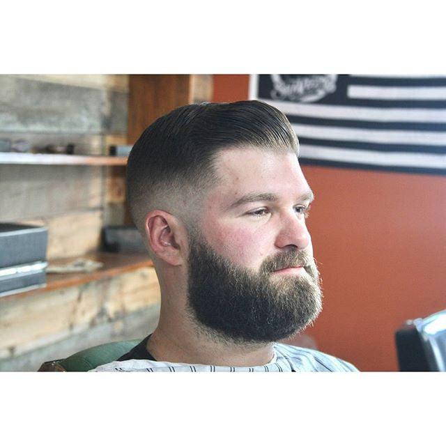 haircutjonny haircut with beard styled with suavecito pomade