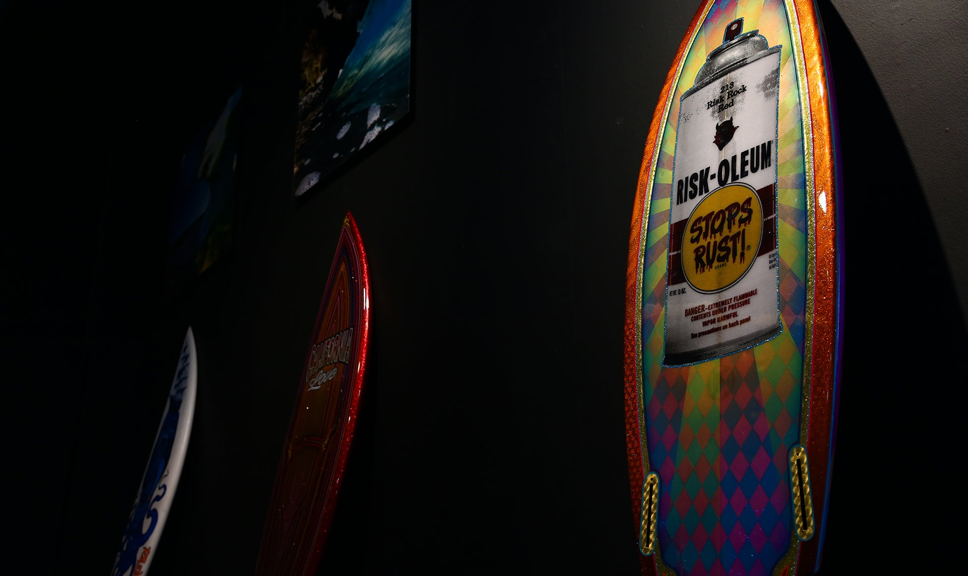 Custom Surfboard at Legacy Carshow
