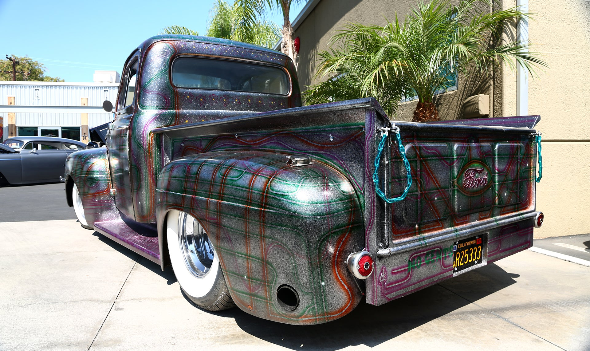 Custom Paintjob on a Ford Pickup at legacy carshow