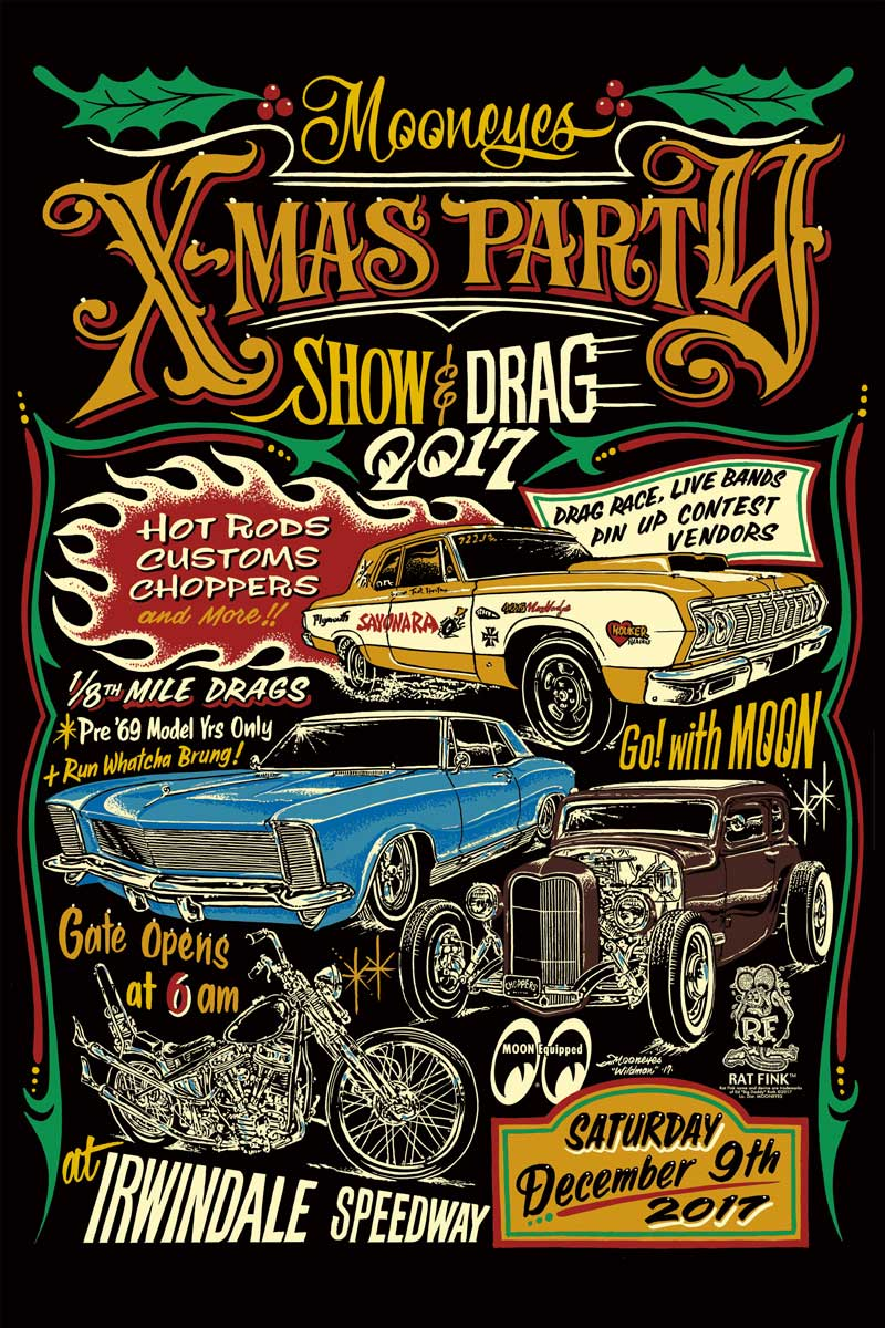 Mooneyes Xmas Party Show & Drag 2017
